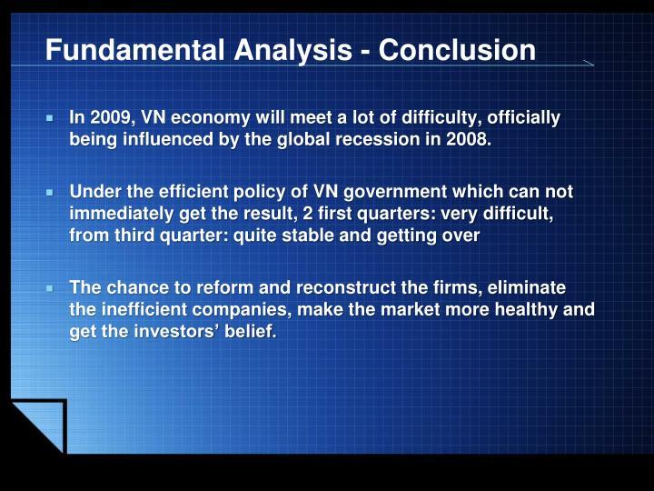 Fundamental Analysis - Conclusion