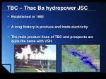 tbc thac ba hydropower jsc
