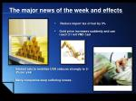 the major news of the week and effects1
