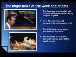the major news of the week and effects2
