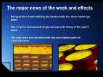 the major news of the week and effects3