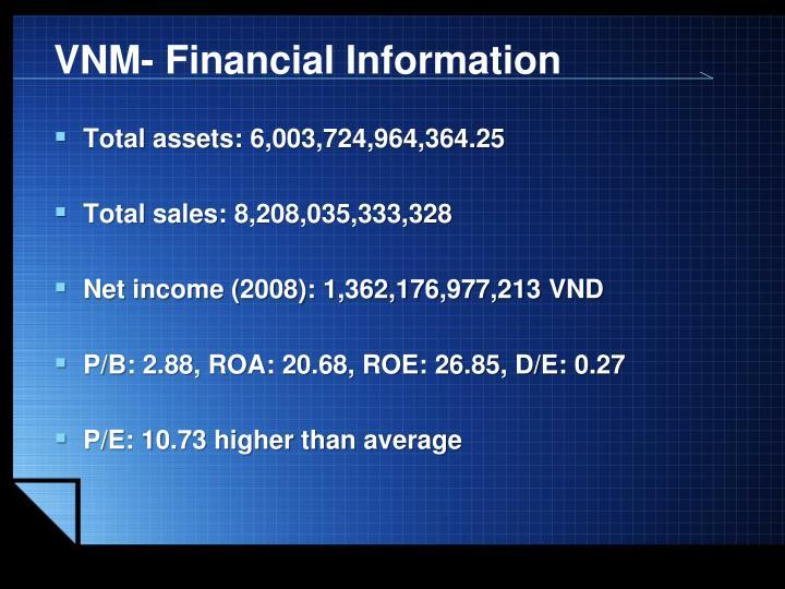 VNM- Financial Information