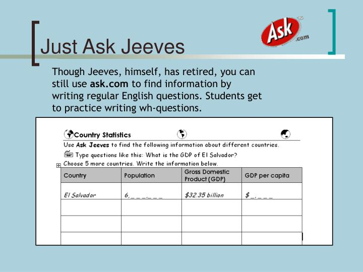 Ask.com Just Ask Jeeves a question