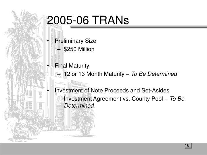 2005-06 TRANs