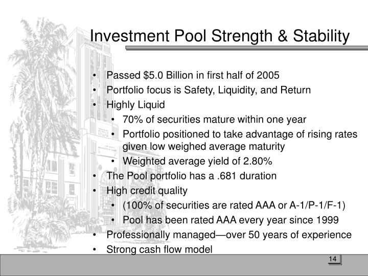 Investment Pool Strength & Stability