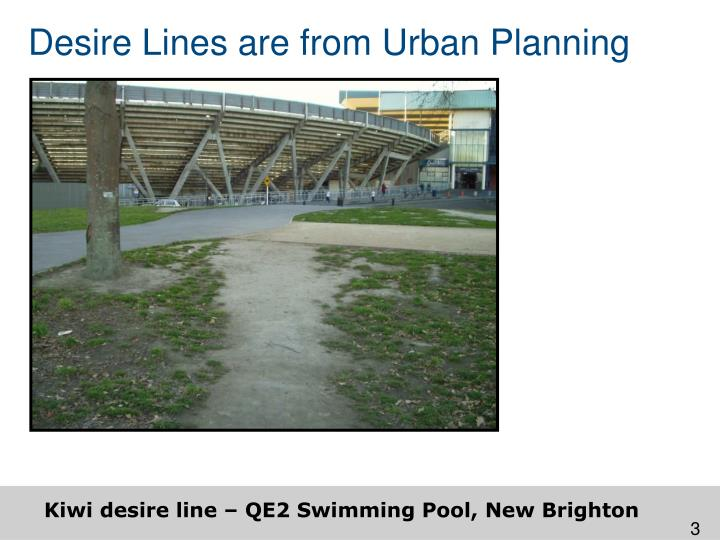 Desire Lines are from Urban Planning