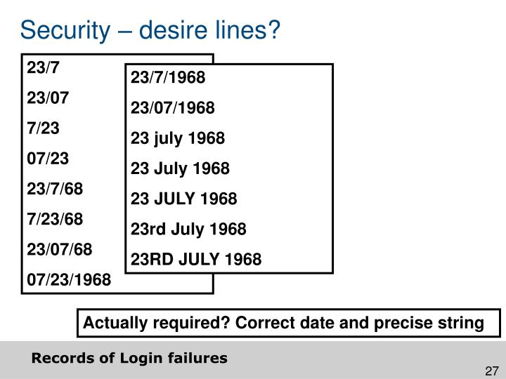 Security – desire lines?