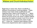 widows and church individual action11