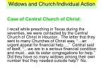 widows and church individual action19