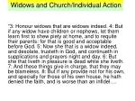 widows and church individual action2