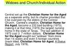 widows and church individual action20