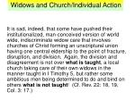 widows and church individual action26