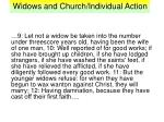 widows and church individual action3