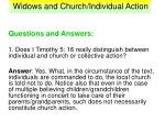 widows and church individual action32
