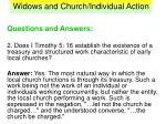 widows and church individual action34