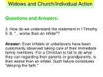 widows and church individual action35