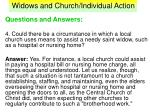 widows and church individual action36