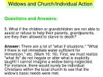 widows and church individual action37