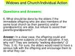 widows and church individual action38