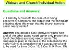 widows and church individual action39