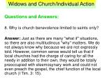 widows and church individual action40