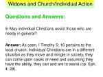 widows and church individual action41