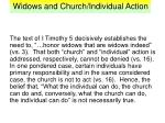 widows and church individual action6
