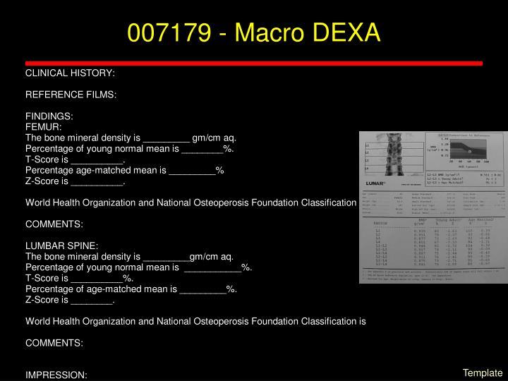 007179 - Macro DEXA