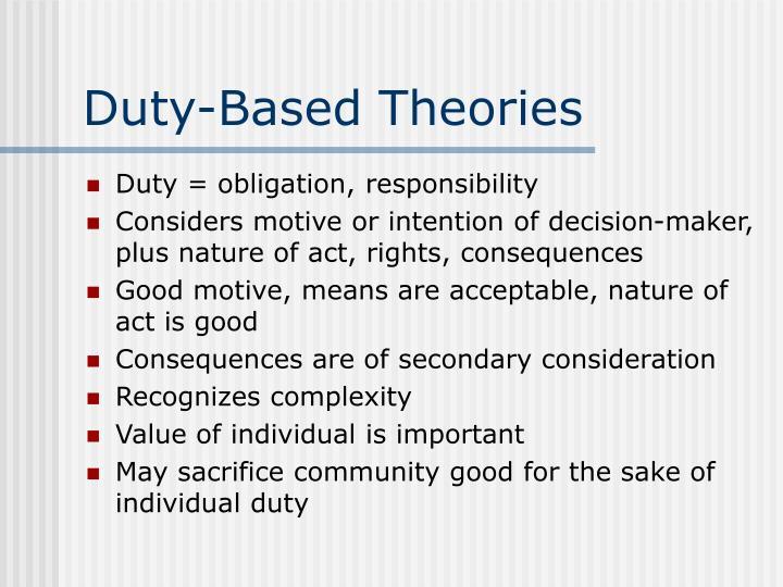 Duty-Based Theories