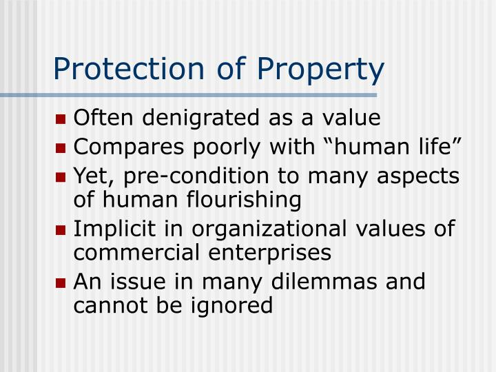 Protection of Property