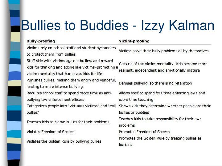 Bullies to Buddies - Izzy Kalman