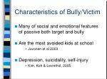 characteristics of bully victim