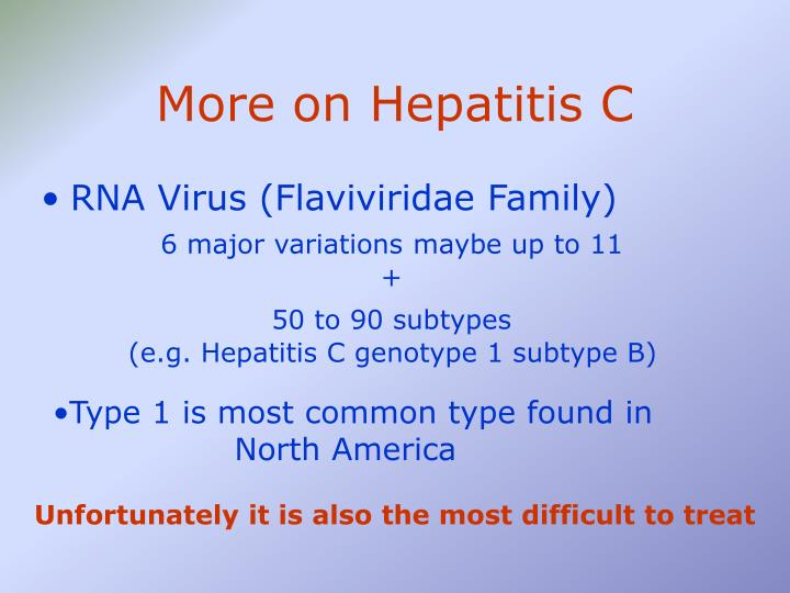 More on Hepatitis C