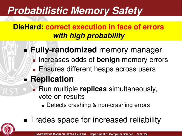 Probabilistic Memory Safety
