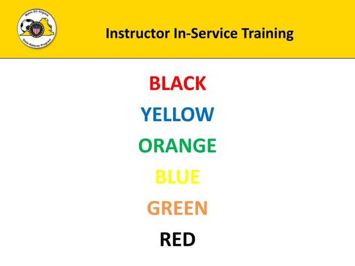 Instructor In-Service Training