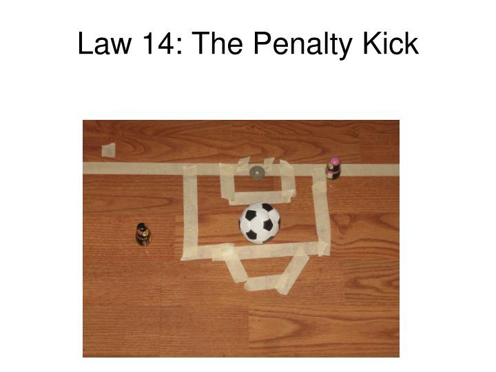 Law 14: The Penalty Kick