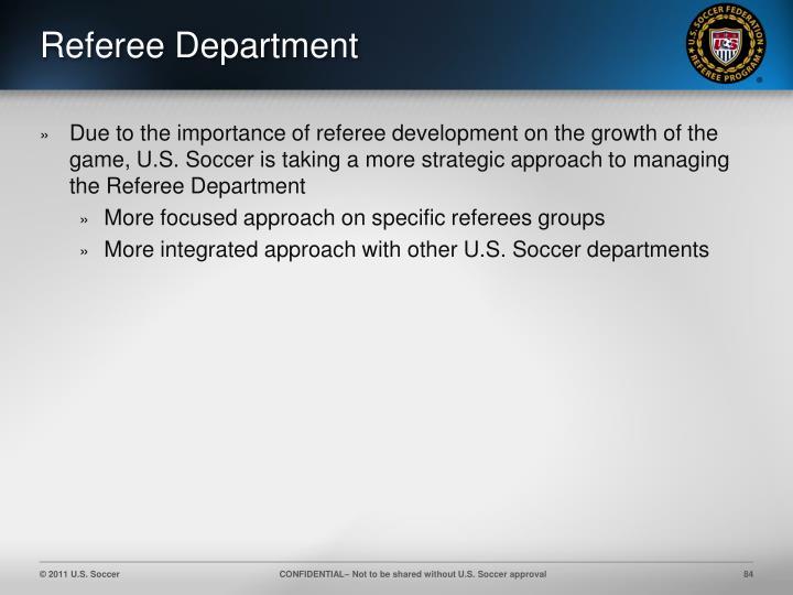 Referee Department