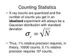 counting statistics