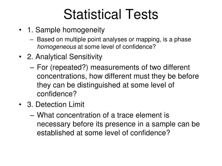 Statistical Tests