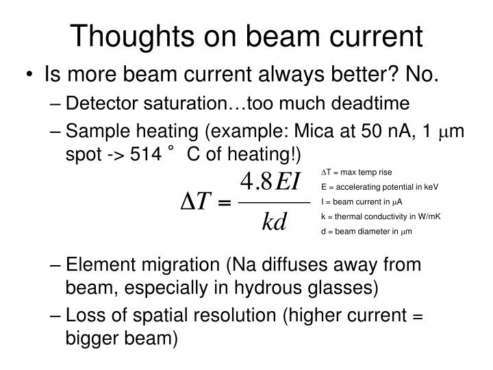 Thoughts on beam current