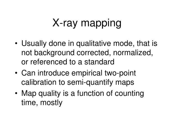 X-ray mapping