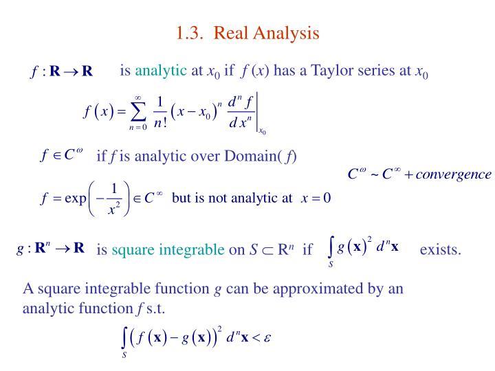 1.3.  Real Analysis