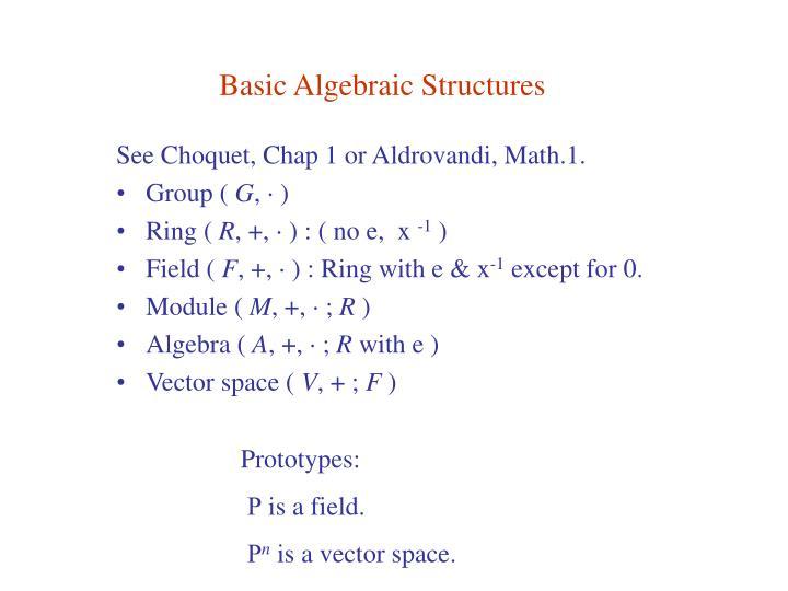 Basic Algebraic Structures