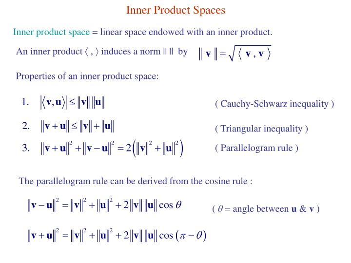 Inner Product Spaces