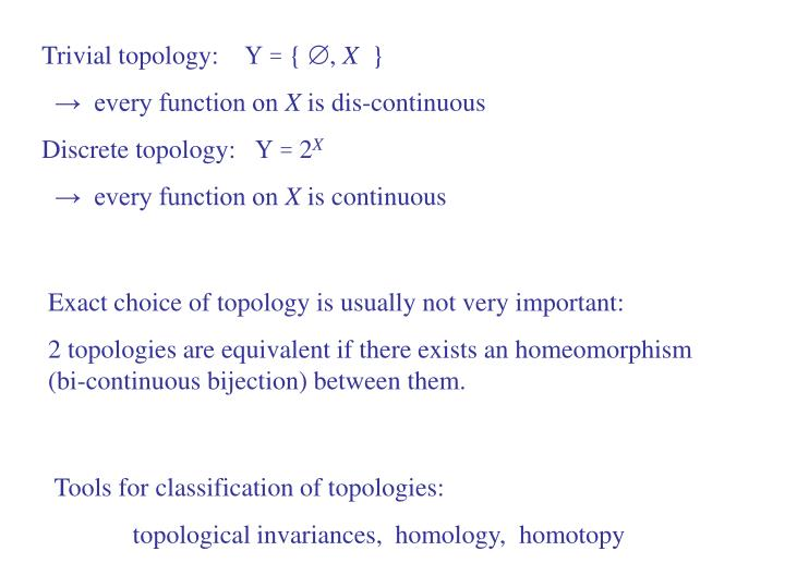 Trivial topology: