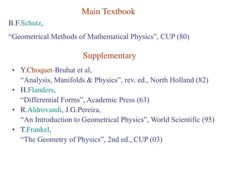 Main Textbook