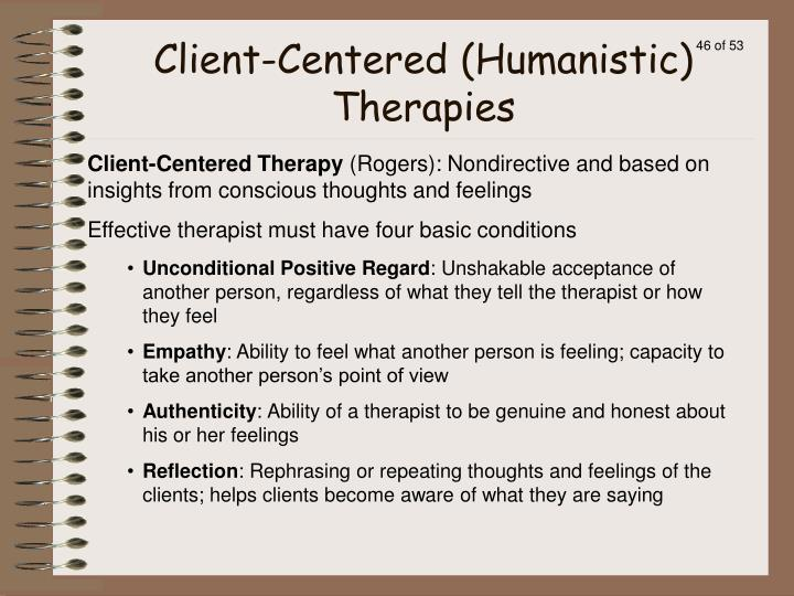 Client-Centered (Humanistic) Therapies