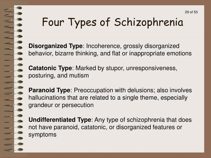 Four Types of Schizophrenia