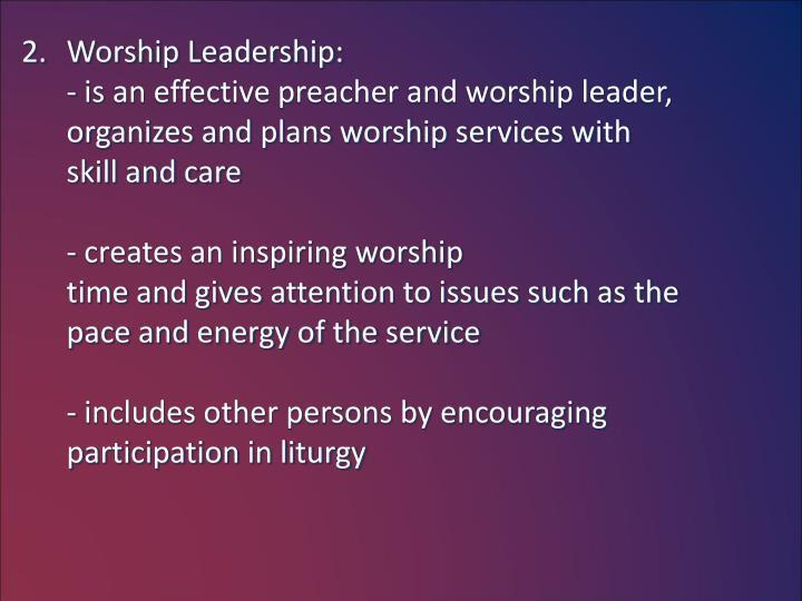 Worship Leadership: