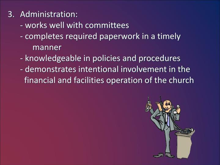 Administration: